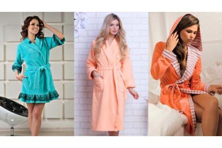 Стильные женские домашние халаты 2016